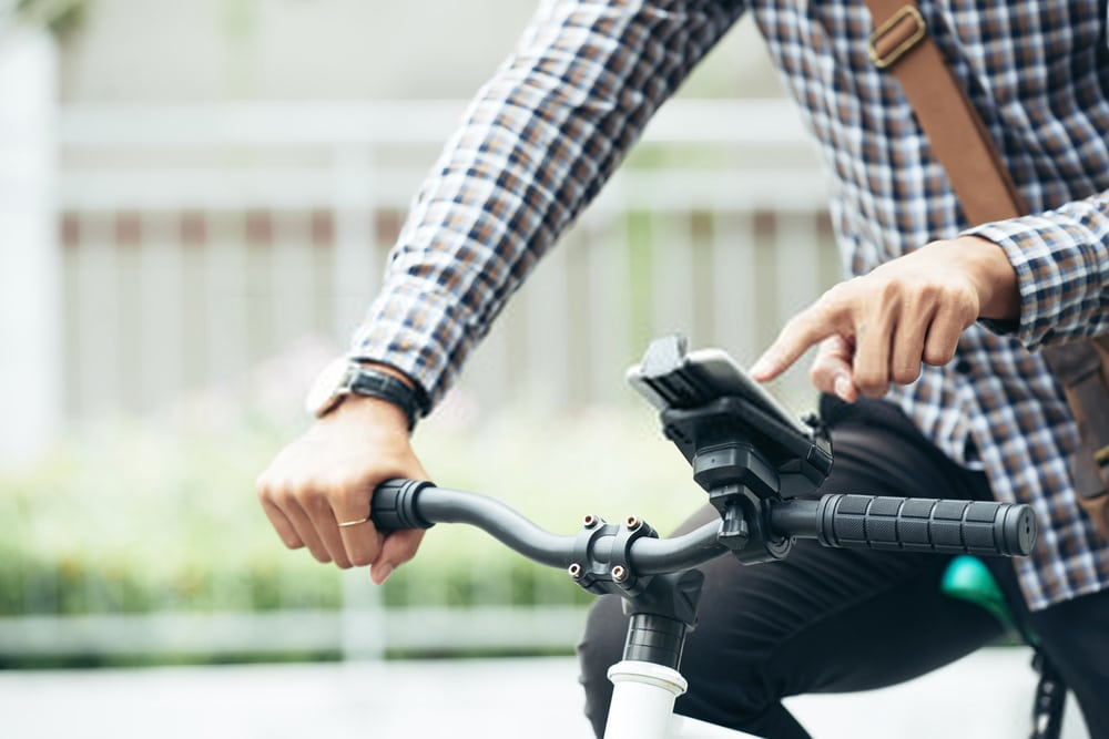 The Nite Ize Wraptor Bike Phone Mount
