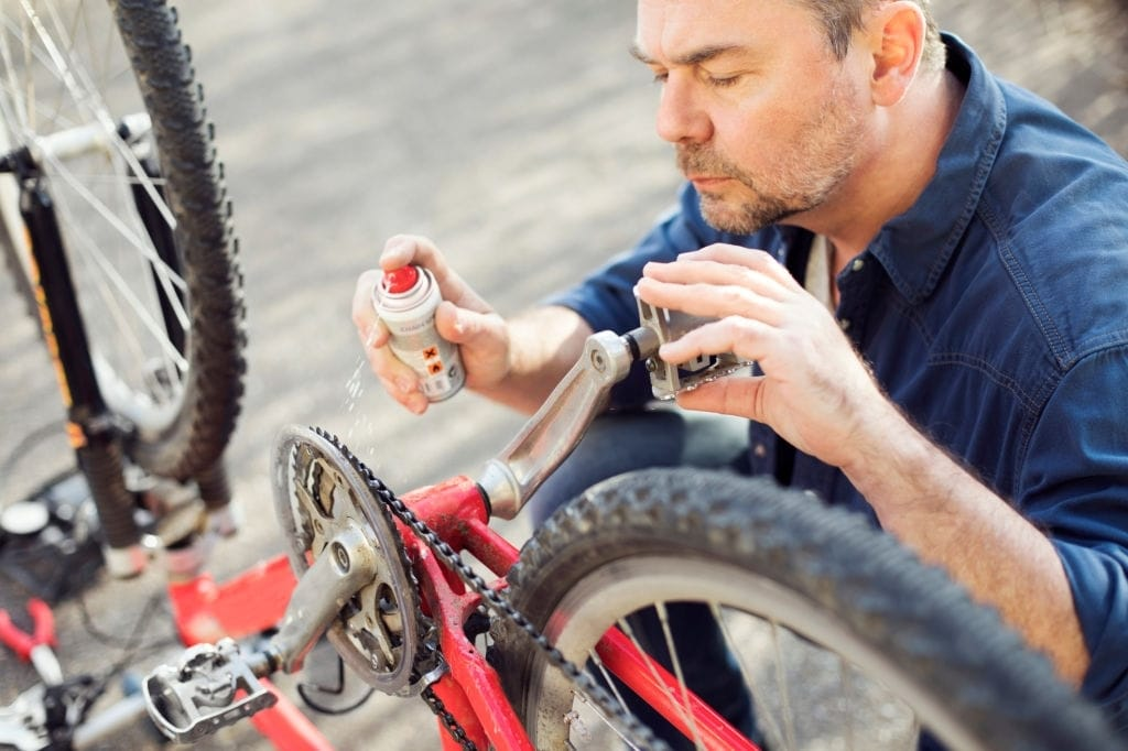 Don't forget to grease your bike pedals