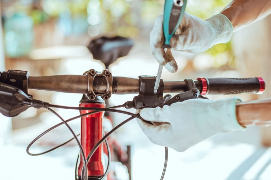 Pull each brake lever to check how tight your cables are